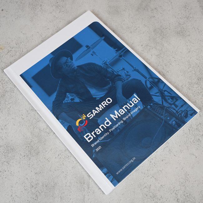 Communication Design department at RHEST's Creative Studio designed a new brand manual for SAMRO.